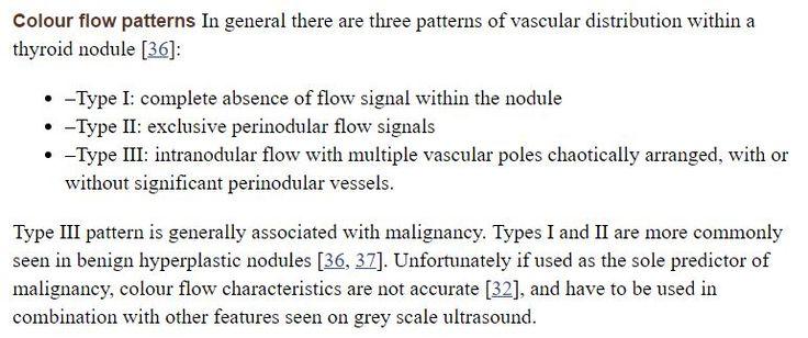 Thyroid - Vascularity of nodules