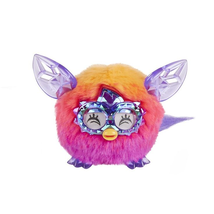 Fashionista Orange Pink Furby Furbling Crystal Creature Plush Interactive Toy -