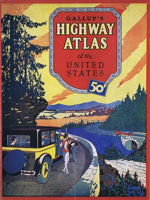 Vintage Road Map Cover Gallup S Highway Atlas Of United States 001 Flickr Photo Sharing
