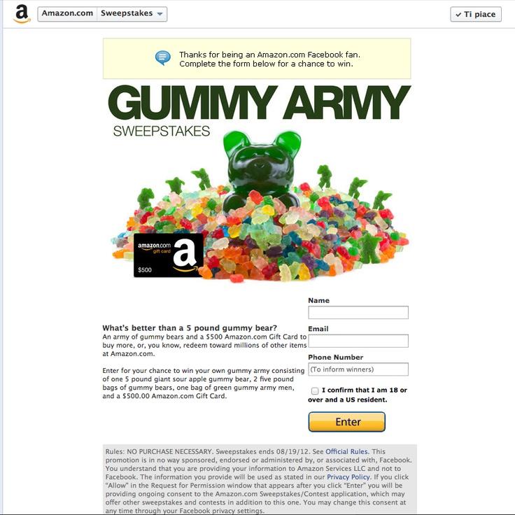 Amazon Gummy army 2Gummy Bears, Gummy Army, Giants Gummy, Amazon Gummy, Gummy Sweepstakes