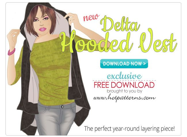 Free Pattern Download Delta Hooded Vest. Sizes 6-26! Also Cami and Tap Pants, Skirts, Aprons and others I can't pin but are Free to Download!