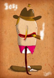 "Robert Romanowicz illustration: ""Boss"" in color"
