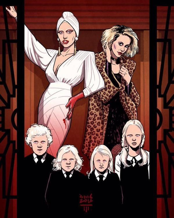Lady Gaga and Sarah Paulson as The Countess and Hypodermic Sally in American Horror Story Hotel #AHS #Hotel