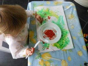 p dagogie montessori activit peinture au doigt activit s enfants 1 2 ans activit. Black Bedroom Furniture Sets. Home Design Ideas