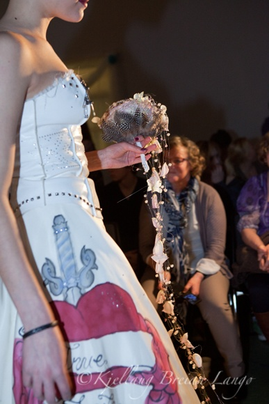 My fun wedding gown project leather corset and silk skirt with tattoo art. <3