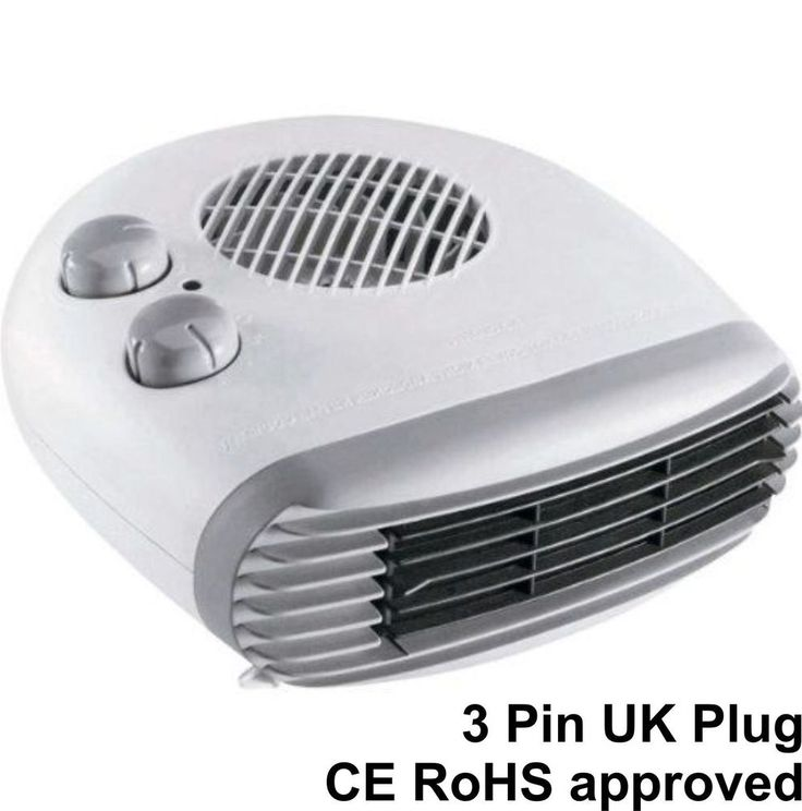 2000 Watt Electric Fan Heater Portable Small Silent Hot Cold BEAB Approved Heat
