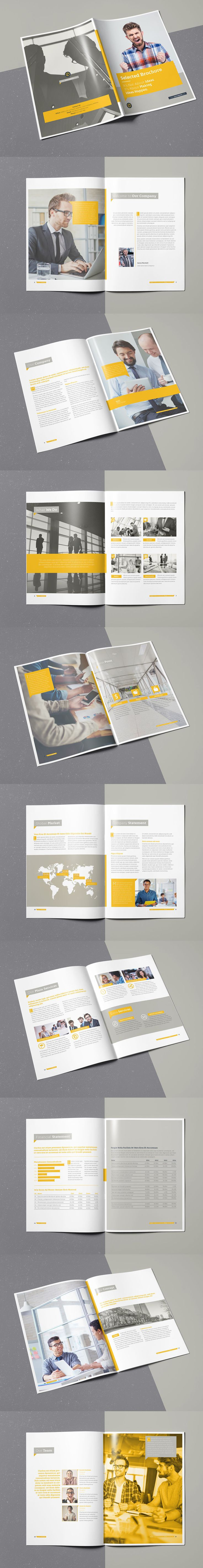 Selected Brochure 20 Pages A4 Template InDesign INDD
