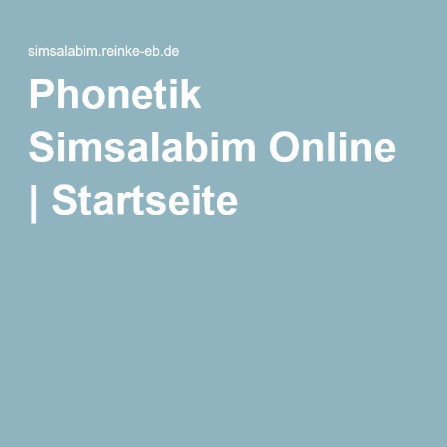 Phonetik Simsalabim Online   Startseite - Ein tolles, ganzes online Buch mit Phonetikübungen und vielen Videos. (ab B1)