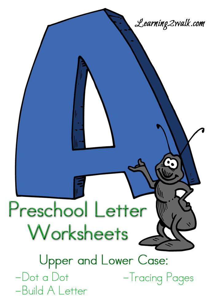 Here are a few letter A preschool letter worksheets that include do-a dot pages, tracing pages and more