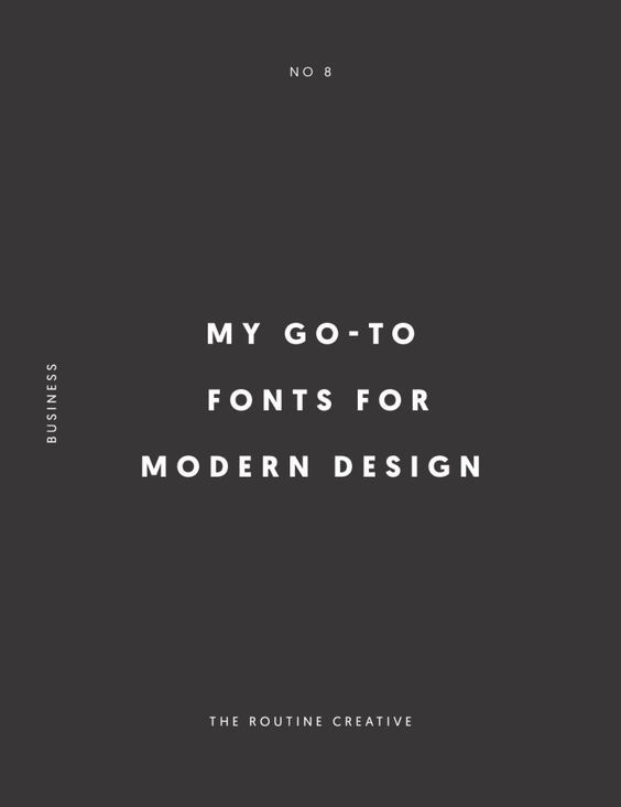 My Go-To Fonts for Modern Design are here for you. Some are free and some are not. I'll be sure to make it clear which ones you will have to pay for. When I first got started as a Graphic Designer choosing fonts was not an easy thing to do. I would spend FOREVER browsing through free fonts and at the time would be satisfied with my selection. However when I would look back a few months later those fonts all of the sudden looked juvenile to me because I had found some other font...