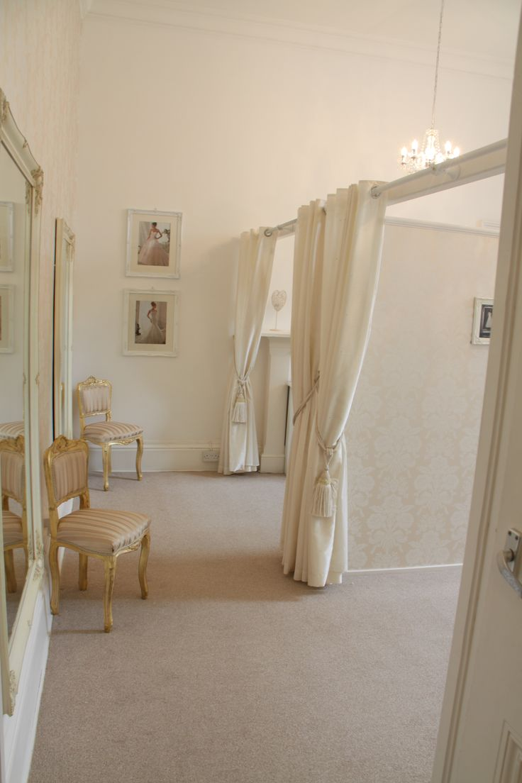 Spacious, bright dressing rooms mean there is plenty of room to dance with delight when you find the perfect dress!