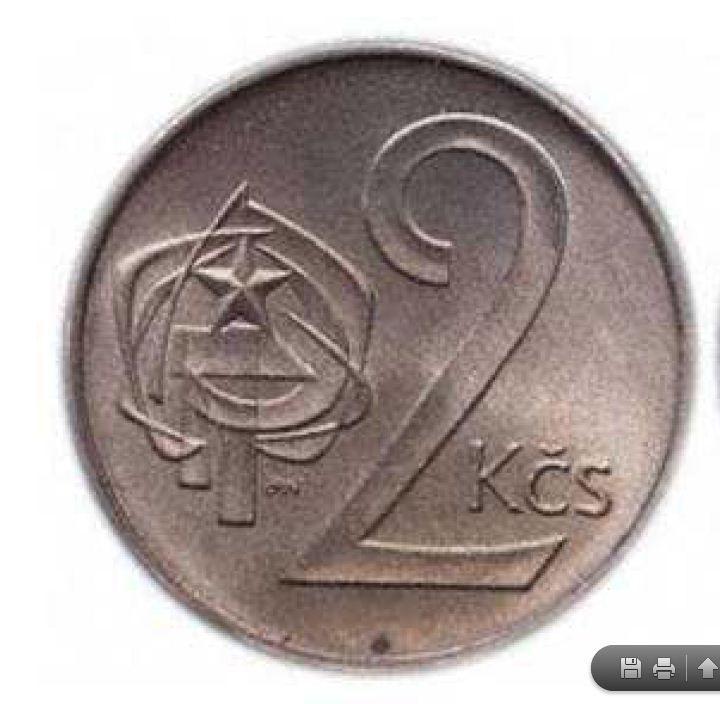 Coin - 2 Kčs (Czechoslovakian Crowns)