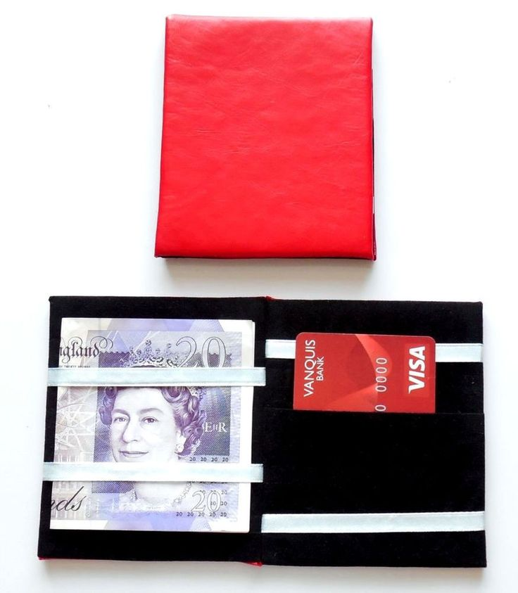 Only £2.98 with free delivery, Faux leather Red magic money wallet Taxi Milk Man market trader credit card slot