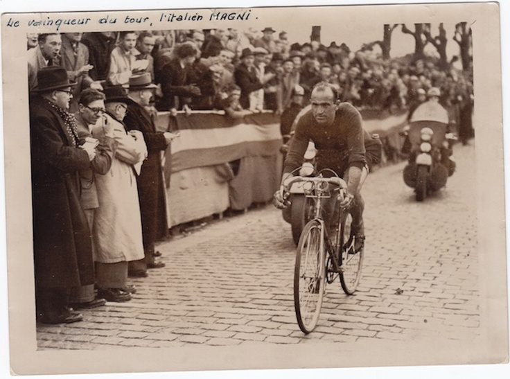 Fiorenzo Magni first on Tour of Flanders 1950. He rode in the Wilier Triestina prof Team