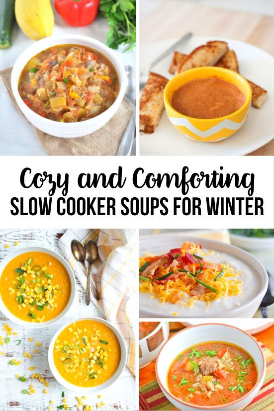 Over 20 Cozy and Comforting Slow Cooker Soups that are perfect for winter! There's something for everyone in this list.