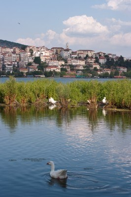 The idyllic lake and the city of Kastoria