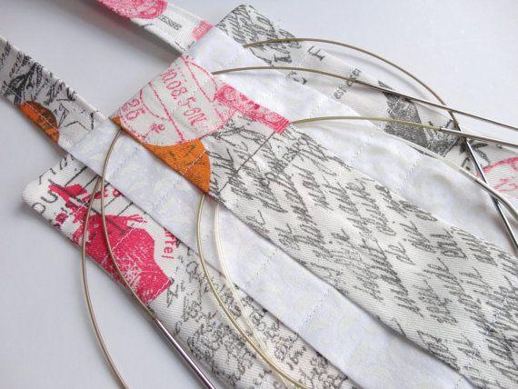 Circular Knitting Needle Storage Organizers : Hanging circular knitting needle organizer french script