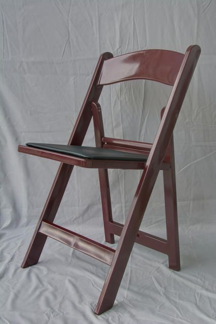64 Commercial Resin Folding Chairs Mahogany Color Party Rental Chair Padded Seat