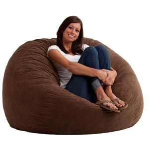 FufSack Large Memory Foam Microfiber Bean Bag Chair
