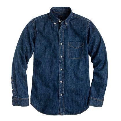 MIDWEIGHT DENIM SHIRTDark Shirts, Men Clothing, Midweight Denim, Crew Men, Men Style, Denim Shirts, Men Fashion, Fashion Buy, Shirts 118