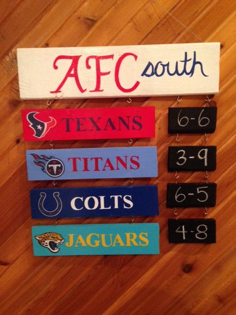 One for the AFC South and one for the NFC North....Packers/Colts!