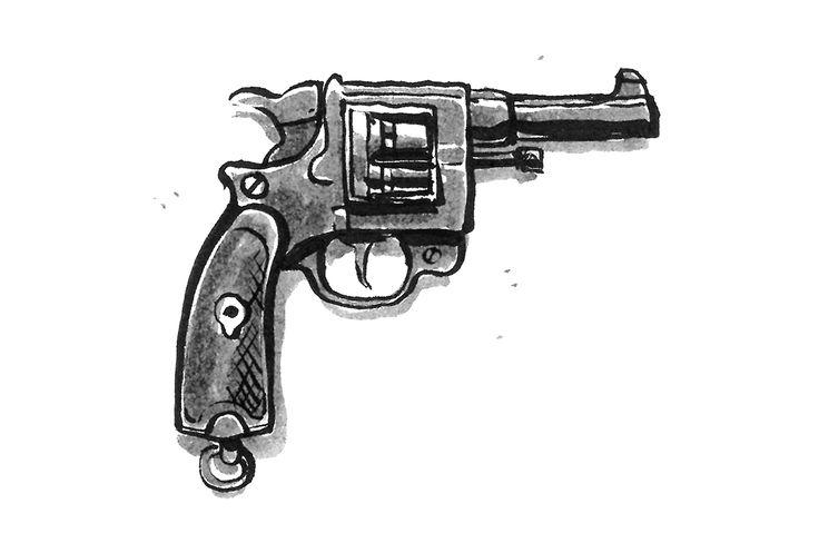 French gun - St Etienne Mle 1892 - by Jon Skraentskov Ink on paper 2017  #gun #ww1 #stetienne