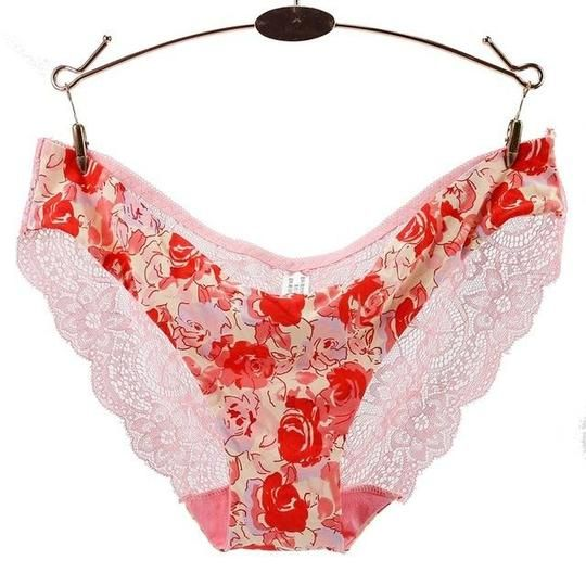 97020dfe682 Women Sexy Lace Panties Print Female Underwear Hollow Out Seamless Briefs  low-Riesintotham
