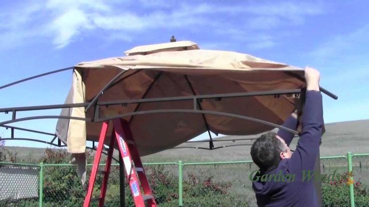 How to install a Lowe's Allen Roth 10x12 Gazebo Canopy
