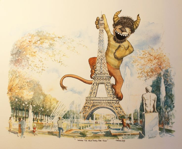 "With a nod to Maurice Sendak's, ""Where the Wild Things Are"", this is my ""Where the Wild Things Are Now""...apparently, hanging out in posh places like Paris, France!  © 2013 Tamara David: Latest Work, Posh Places, Wild Things, Paris France, 2013 Tamara, Tamara David, Maurice Sendak"