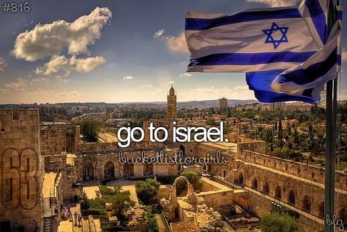 """""""The death of six million Jews had finally been given meaning, he kept saying over and over again. It had happened. After two thousand years, it had finally happened. We were a people again, with our own land. We were a blessed generation. We had been given the opportunity to see the creation of the Jewish state.""""   I want to go soooo bad!"""