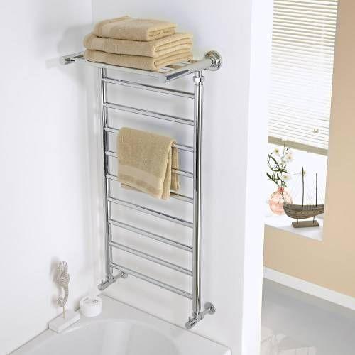 Sèche-serviettes chromé avec étagère 1000mm x 532mm - 221 watts - Image 1