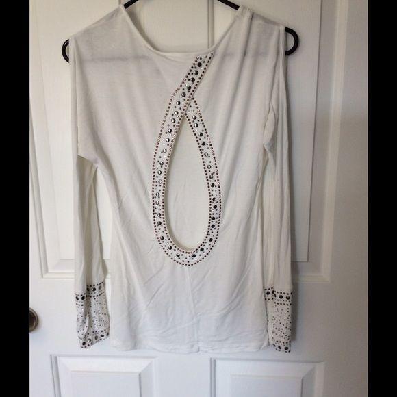 Cutout shirt with stud details Cutout shirt with studded details. Cutout on shoulders also Tops Blouses