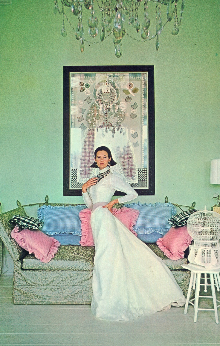 Gloria Vanderbilt Cooper photographed by Francesco Scavullo at her Southhampton house called Summertime.