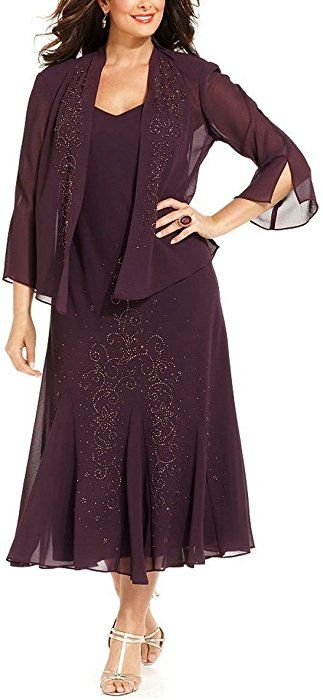 6f97699a91e R M Richards Women s Plus Size Beaded Jacket Dress - Mother of The Bride  Dresses (20W