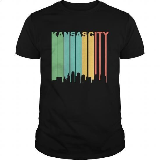 Vintage 1970's Kansas City Missouri Cityscape - #long #kids hoodies. GET YOURS…