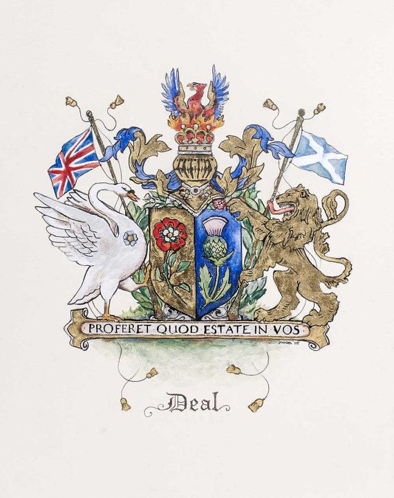 """Create your own Original Family Crest / Coat of Arms - 11"""" by 14"""""""