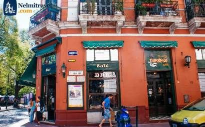 Plaza Dorrego bar in Buenos Aires where famous people have met for a cup of coffee.  #DorregoBar #BuenosAires #travel #Argentina #bar #coffee #Nelmitravel