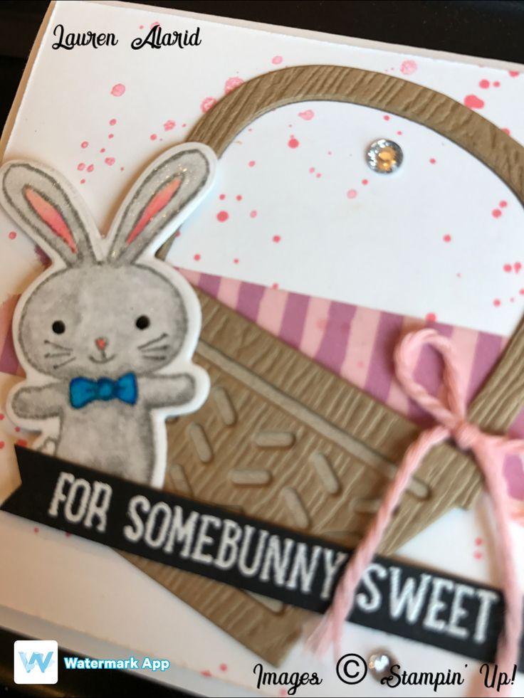 Stampinu0027 Up Basket Bunch Easter Bunny Card