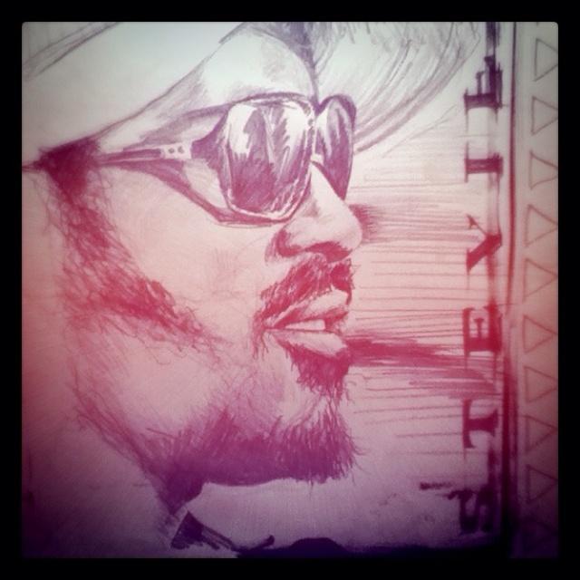 Stevie Wonder - pencil sketch