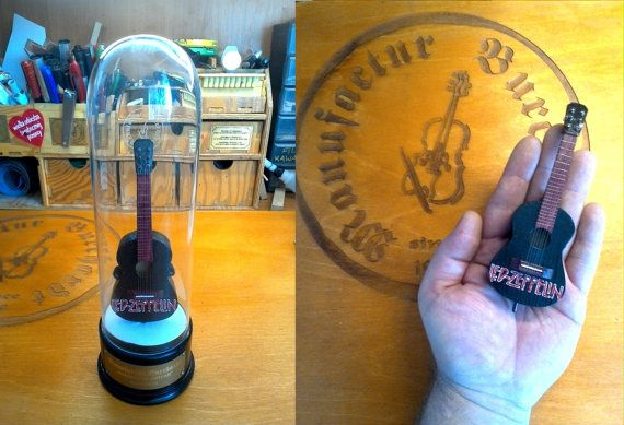 Handmade miniature instrument. Guitar of by ManufacturBurchardt