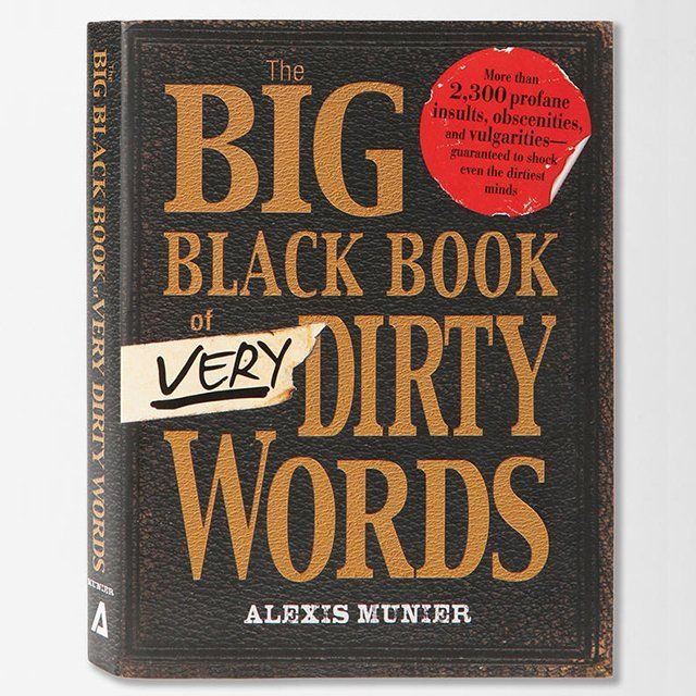 The Big Black Book Of Very Dirty WordsWorth Reading, Big Black, Book Worth, Gift Ideas, Black Book, Fun Stuff, Fancy Products, Dirty, Mr. Big