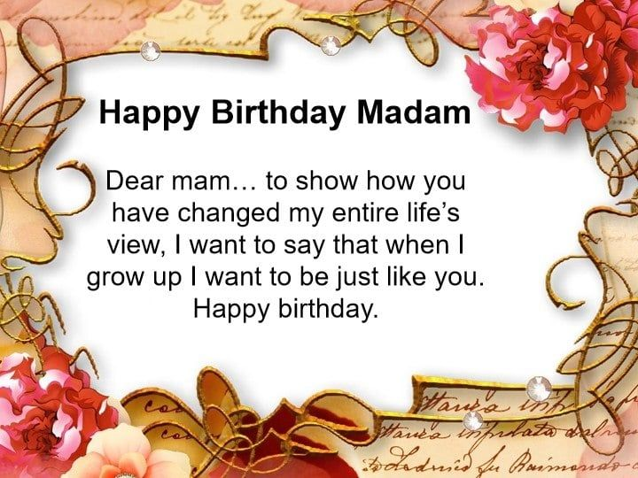 Happy Birthday Madam Quotes Wishes And Images Funny Happy