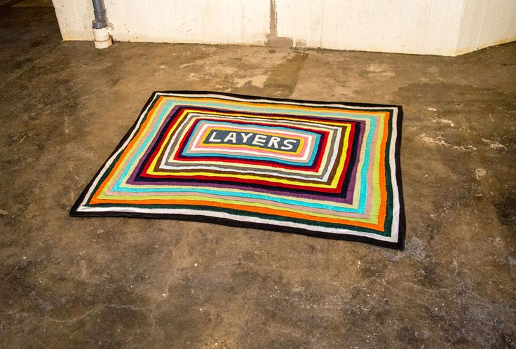"""Everything Pertains To Everything"". 25 layers of blankets hand-sewn onto each other, 150x120cm, Henrik Haukeland 2016."