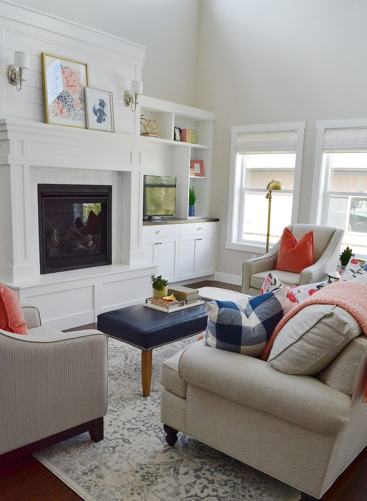 Sita Montgomery Interiors Client Project Reveal Pretty And Polished Family Room