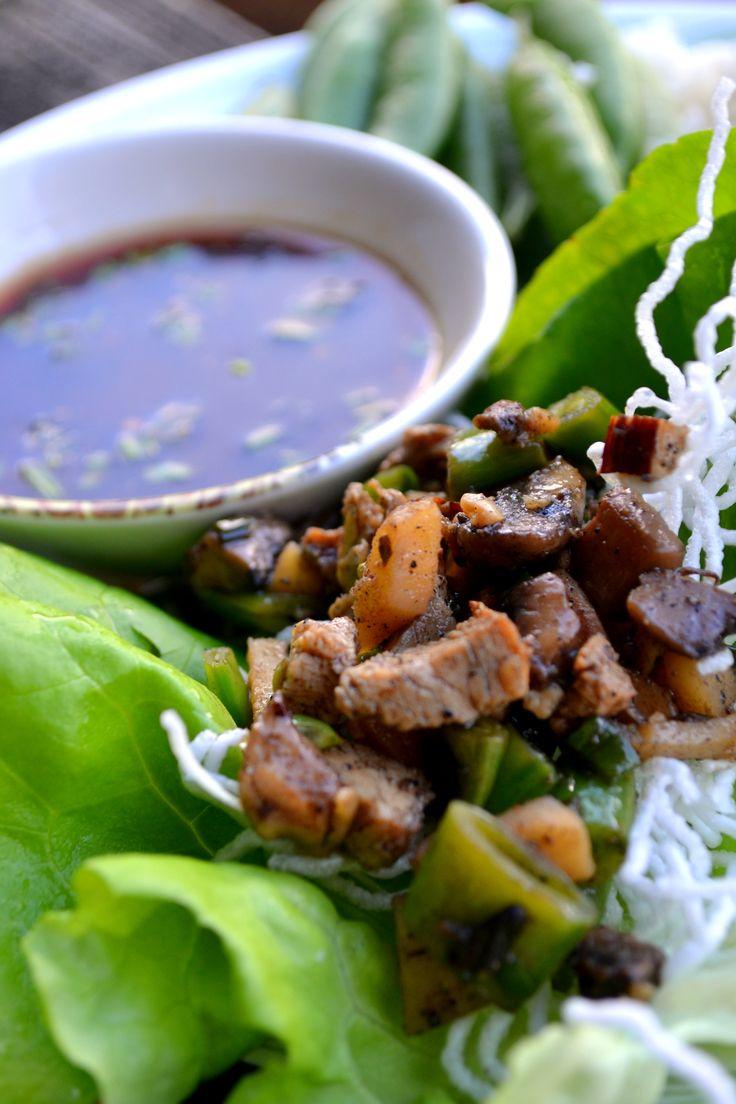 Chicken Lettuce Wraps, PF Chang Style, Gluten Free