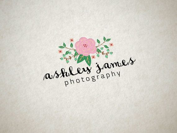 Custom Premade Logo for Photographers Premade by cloudwirestudio