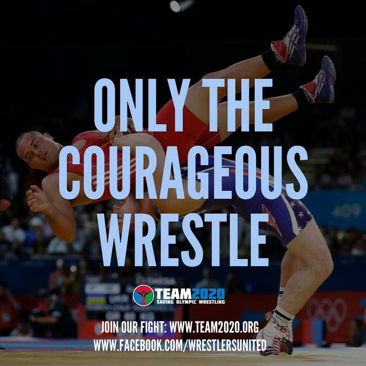 only the bold choose to wrestle