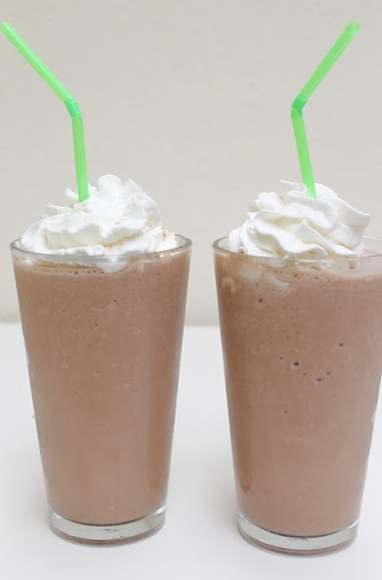 frozen hot chocolate recipe, love to make these with you. Remember that ice cream we found that year? Yum
