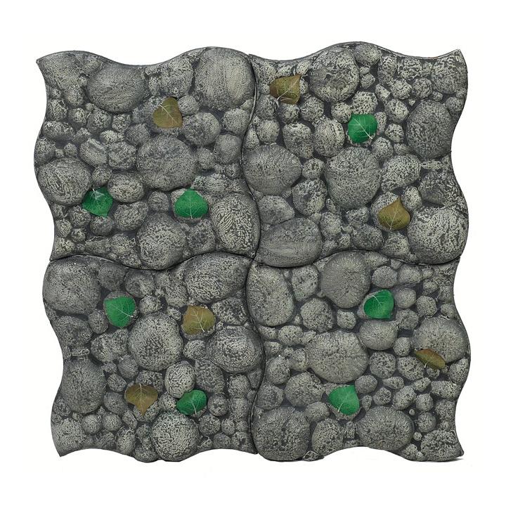 Pavèpiuma, by Piero Gilardi for Gufram... a soft modular carpet which pretends to be a path next to a river... Illusional stones!!!!