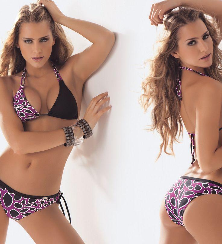 Bikini con jaretas de anudar en cuello, espalda y cadera para que se ajuste a tu silueta.  Traje de baño Juvenil de marcas colombianas en Guatemala.  Compra en línea en www.sexy4.me o visítanos en tienda.